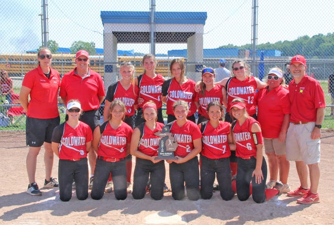 The Coldwater Lady Cardinals claimed the Division Two District Championship Saturday with a come from behind win over Vicksburg and with a rout over Harper Creek