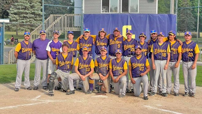 On Saturday the Bronson Vikings defeated Big 8 foe Union City in the semifinals and Galesburg Augusta in the championship to ascend to the throne of the D3 District tournament on Saturday