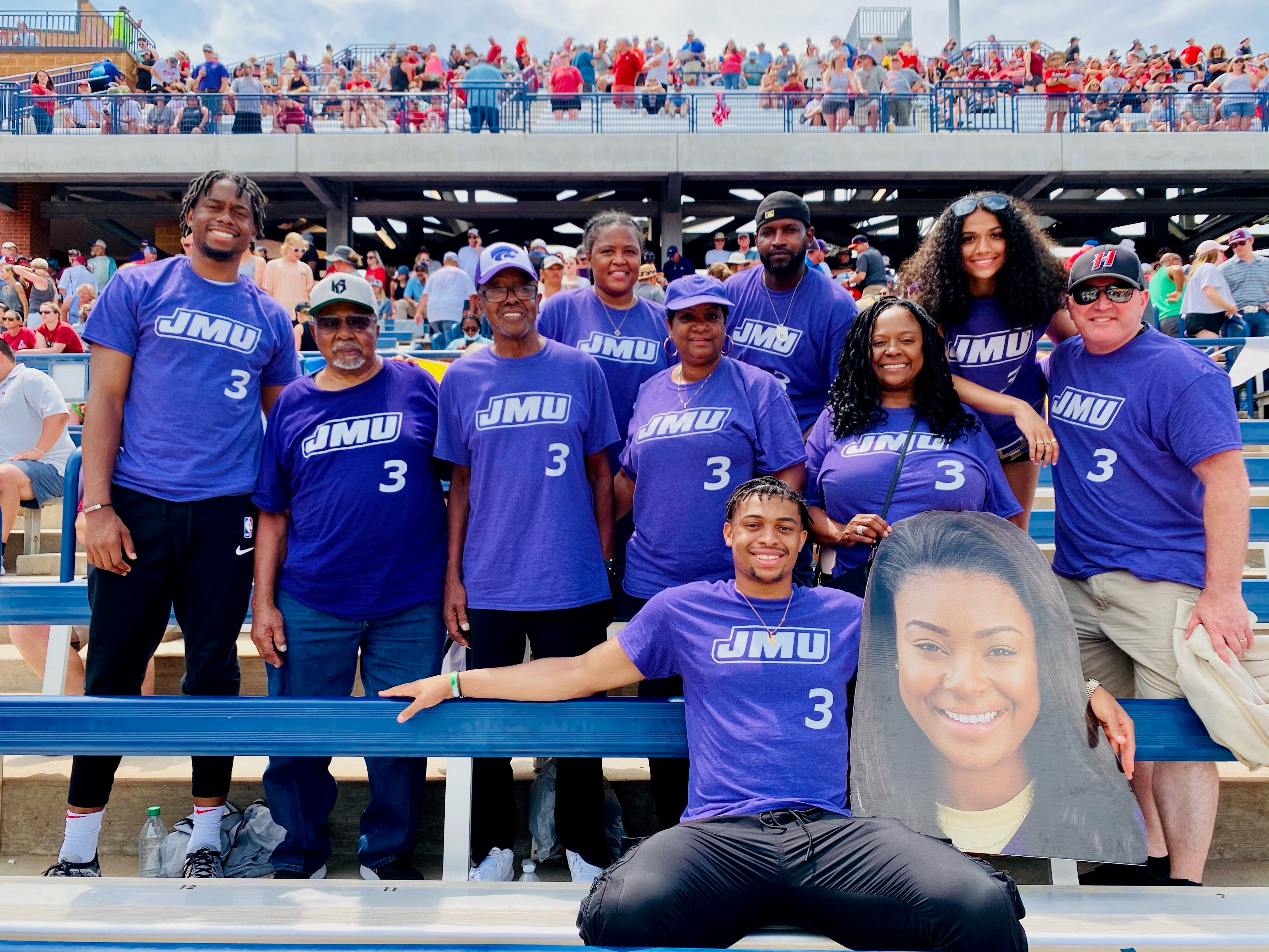 JMU's Odicci Alexander, with Spurs' Keldon Johnson & family at her side, becomes face of WCWS