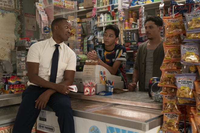 """Coery Hawkins, Gregory Diaz IV and Anthony Ramos in a scene from """"In the Heights."""""""