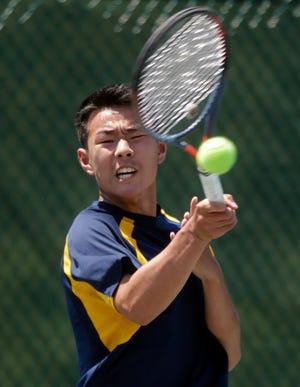Eric Zhang is a boys tennis singles finalist.