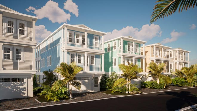 A rendering of Hunters Point, a Pearl Homes development underway in Cortez.