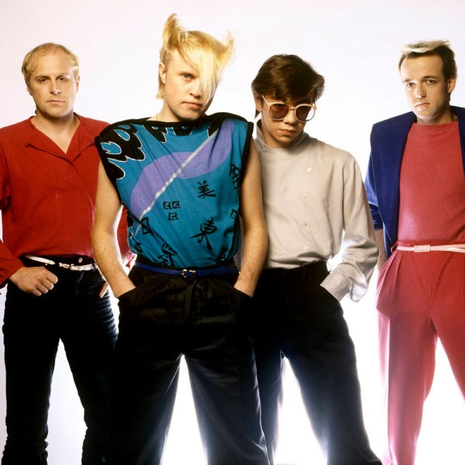 A Flock of Seagulls appears at Abe Fest at the Bank of Springfield Center Plaza on July 9.