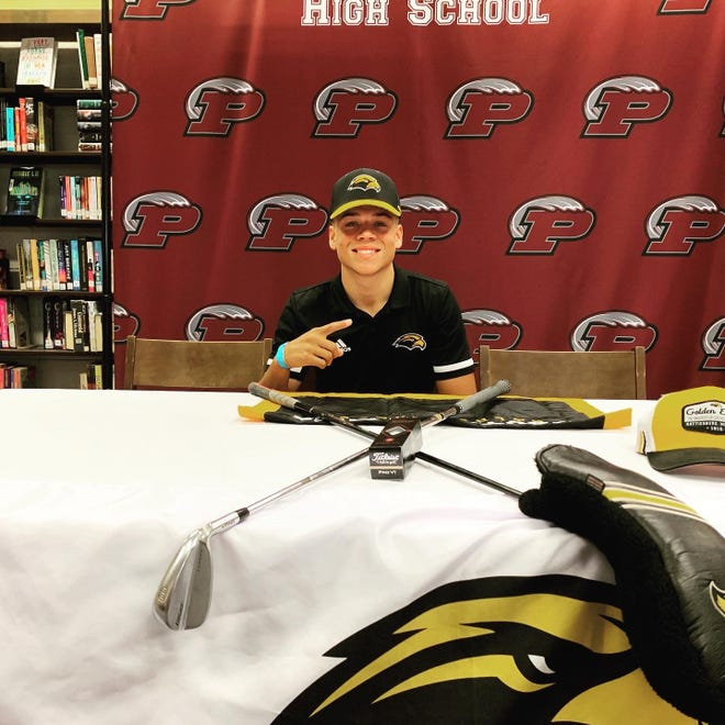 Cam Guidry of Picayune (Miss.) Memorial High School signed a scholarship to play golf for the University of Southern Mississippi in Hattiesburg.