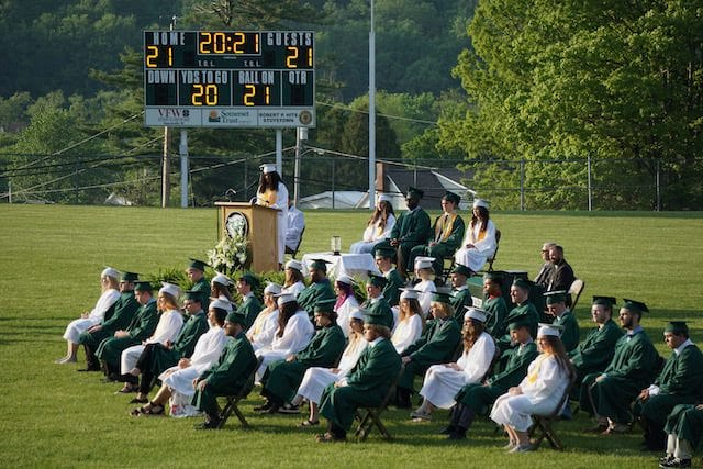 North Star High School featured graduation ceremonies May 25 at the football field.