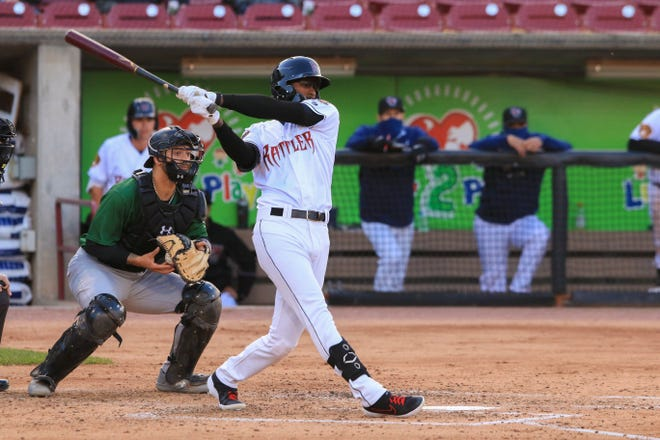 Outfielder Je'Von Ward has a 15-game hitting streak for the Wisconsin Timber Rattlers.