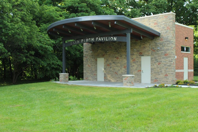 A ribbon-cutting ceremony for the Kyle Plush Pavilion at Stanbery Park in Mount Washington was held on June 5, 2021.