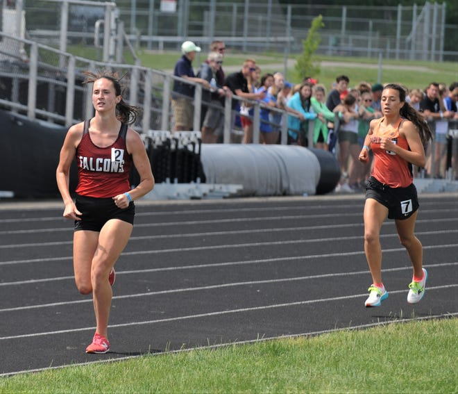 Fairfield Union senior Madison Eyman finished as state runner-up in the Division II 3,200 during Saturday's state track and field championships at Pickerington North High School.
