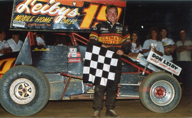 Steve Smith is shown here after one of his confirmed 266 sprint wins.
