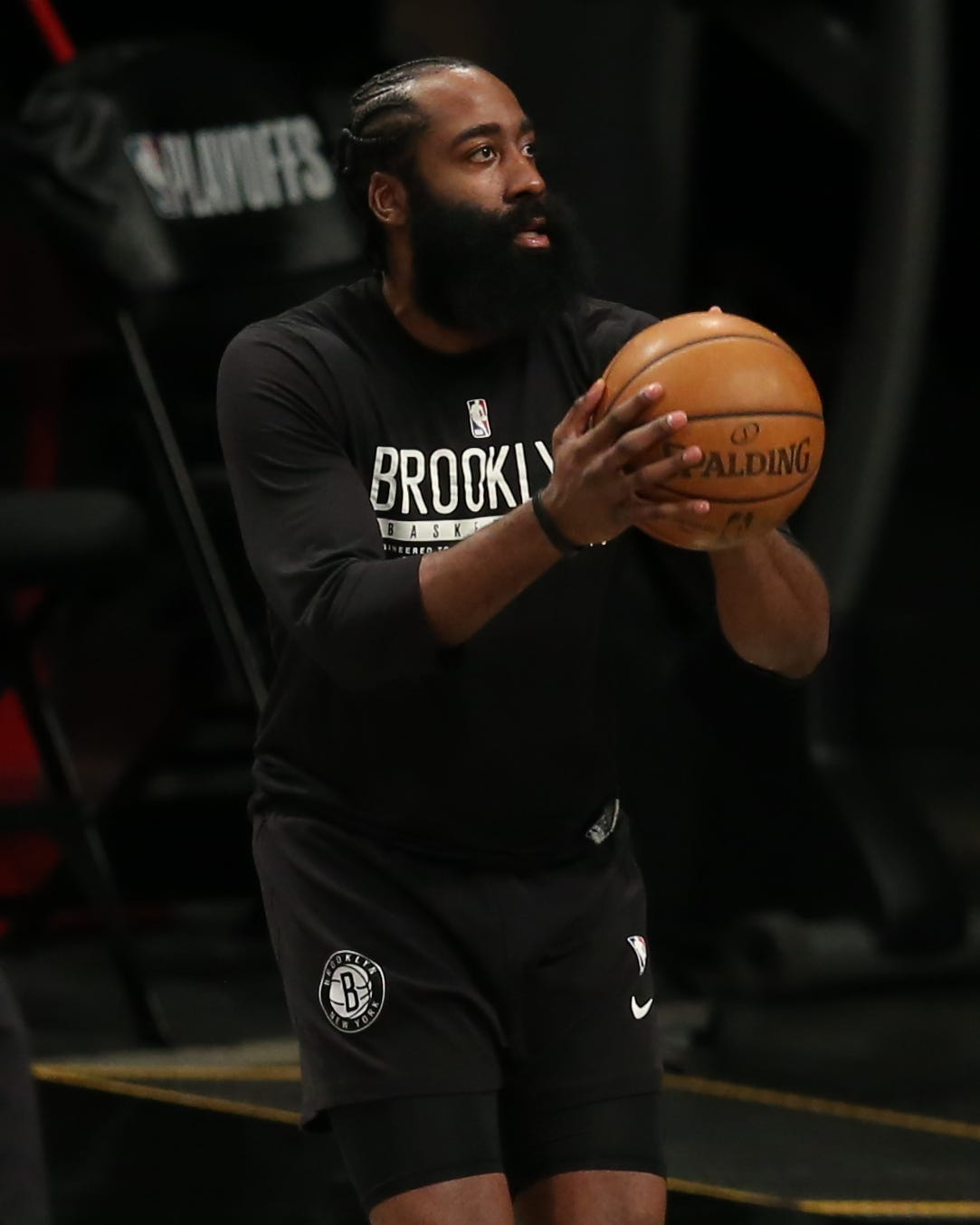 Nets star James Harden leaves 43 seconds into Game 1 vs. Bucks with right hamstring injury