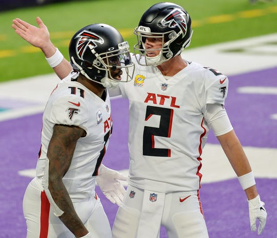 After 10 years together, WR Julio Jones and Falcons QB Matt Ryan (2) have been split up.
