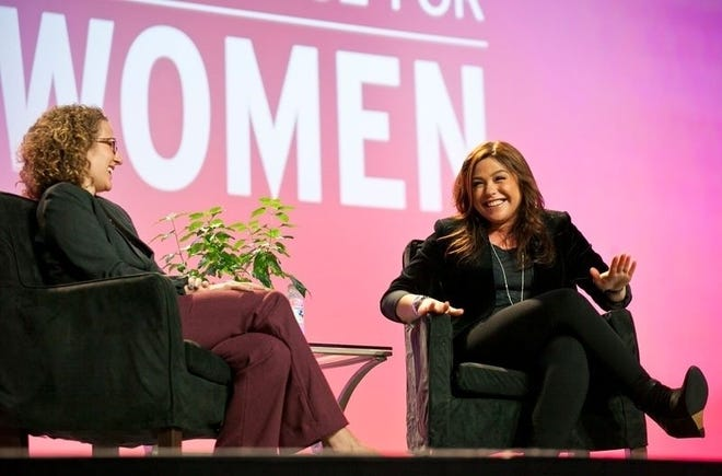 Addie Broyles interviews Rachael Ray at the Texas Conference for Women in 2013.