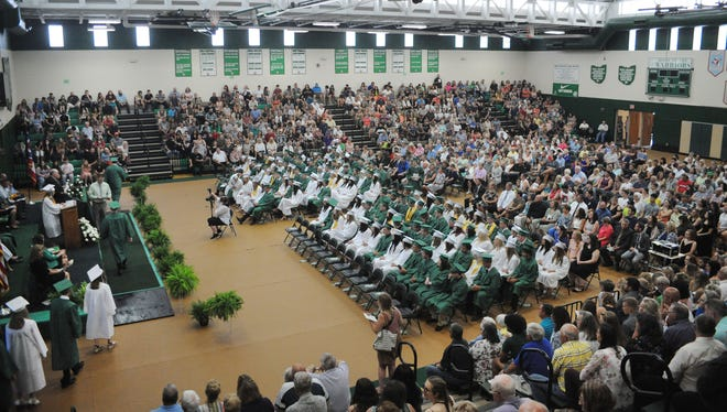 A capacity crowd was on hand Sunday, June 6, 2021, for West Branch High School's Class of 2021 commencement in the school's Field House. The event originally was to take place outside in the football stadium, but was moved indoors after COVID restrictions were eased.
