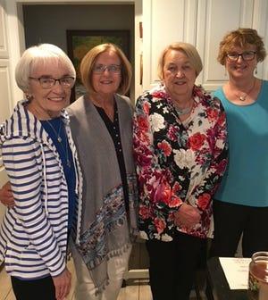 Freya Study Club May meeting hostesses (left to right): Janice Shaffer, Cherrie Kehler, Barbara Dankert and Danice Jones