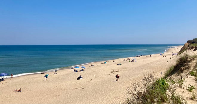 WELLFLEET--(6/7/21)--Plenty of room at Newcomb Hollow Beach on a hot June afternoon.