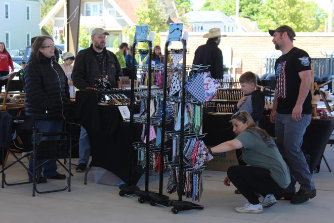 The Cheboygan Farmers Market offers a wide variety of locally produced goods, such as vegetable plants and locally sewn bandanas and face masks.