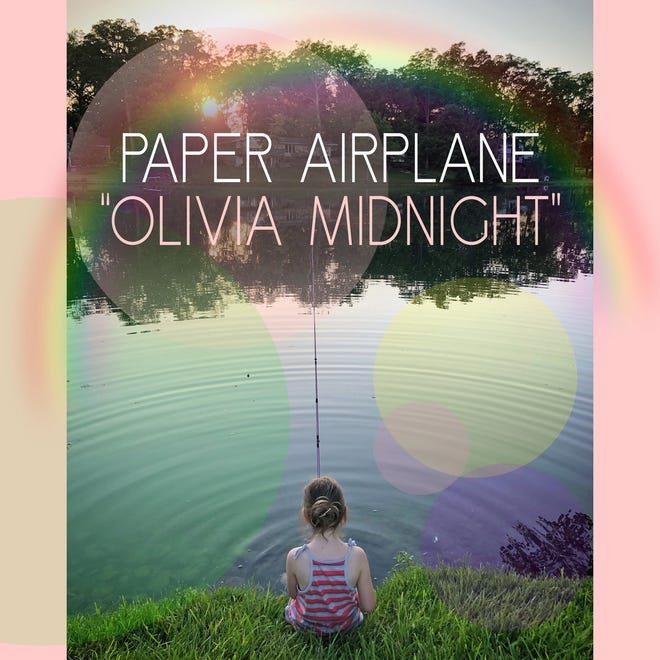 """Cover art for the new Paper Airplane single, """"Olivia Midnight"""""""