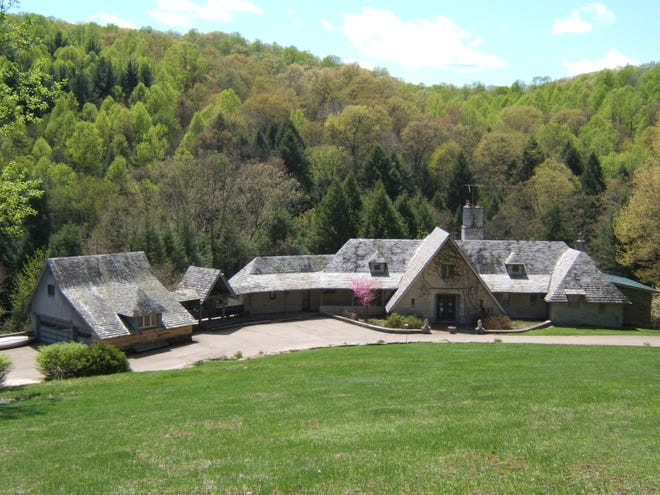 A photo of the former Benua house at Clear Creek Metro Park in Rockbridge in the Hocking Hills. The house, which overlooked a lake and sat on a wide area of land in a public park, was demolished a few years ago.