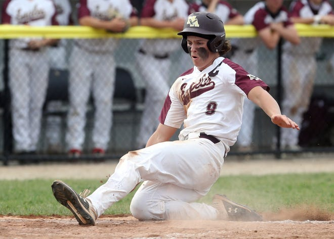 Brock Tibbitts is one of five New Albany players batting above .350. He was the OCC-Ohio division player of the year  and is committed to Indiana.