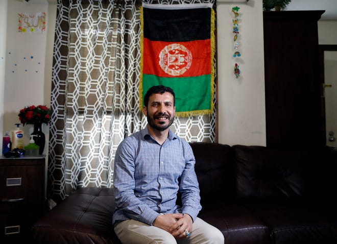 Shamsurahman Zaland, of Dublin, is a refugee from Afghanistan who was able to come to the United States in 2018 on a special immigrant visa due to his work aiding the U.S. mission in his home country.
