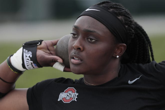 Sade Olatoye needed time to commit to track and field as her sport. But when she made the leap, the throws specialist became one of the most decorated field athletes in Ohio State history.