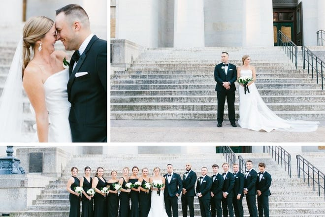 Jennifer and Jeffrey Hart at their Sept. 5, 2020, wedding