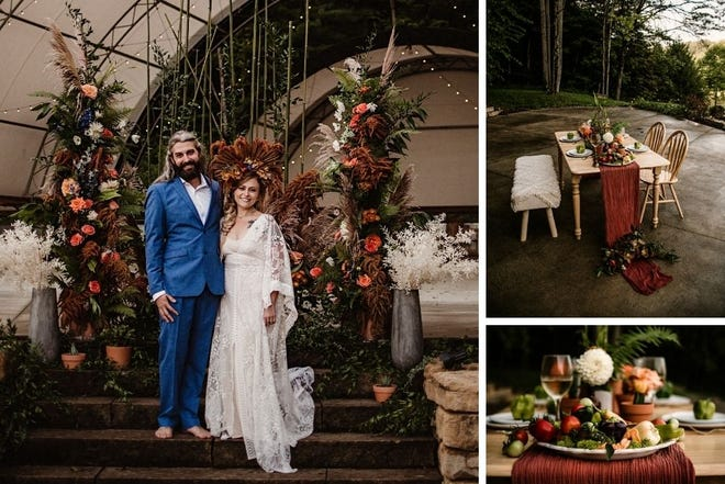 Eco-friendly styled session in Hocking Hills