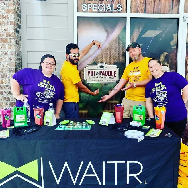 Waitr, an online food delivery service based in Louisiana, celebrates its launch in the Donaldsonville area at the Pot and Paddle location near the Sunshine Bridge.