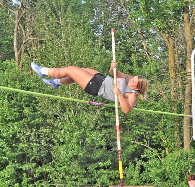 Coldwater's Avery Boyce represented the Cardinals at Saturday's D2 State Track finals, finishing 10th in the Pole Vault