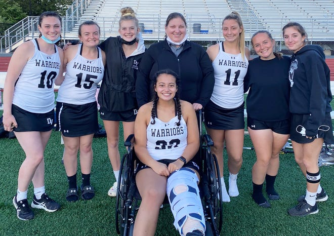 Delaware Valley's girls varsity lacrosse team notched its fourth straight District 2 AAA championship. Pushing the Warriors through the season were seven seniors. This year's crop of twelfth graders included: Erin Hartey, Abigail Vogel, Emma Schotsch, Coach Salak, Julia Weinreb, Madison Fedun, Isabella Fasulo, and (front) Emily Festa.