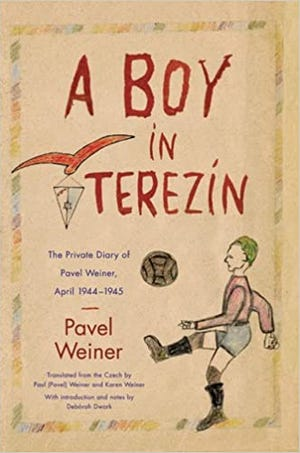 """The cover of Holocaust survivor Pavel Weiner's book, """"A Boy in Terezin,"""" available on Amazon."""