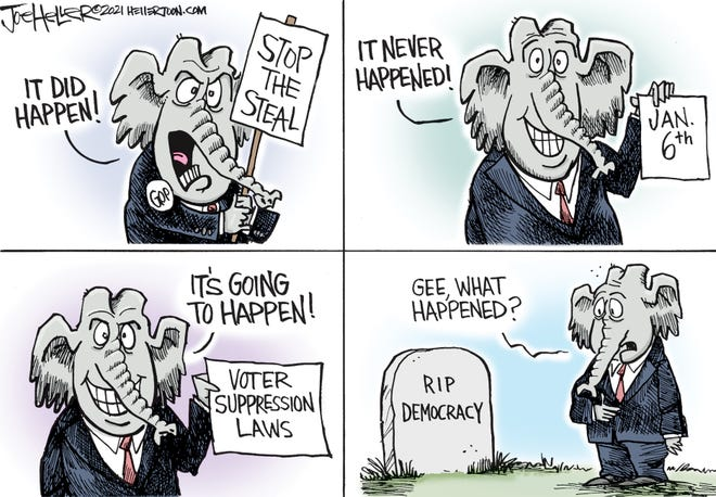 Joe Heller cartoon Democracy