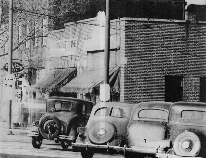 The building at the northeast corner of Main Street and Second Avenue once housed the town's tinsmith.