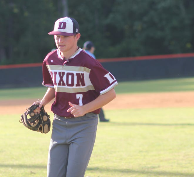 Dixon's Skylar Hinnant threw a five-inning no-hitter against Pender on June 3.