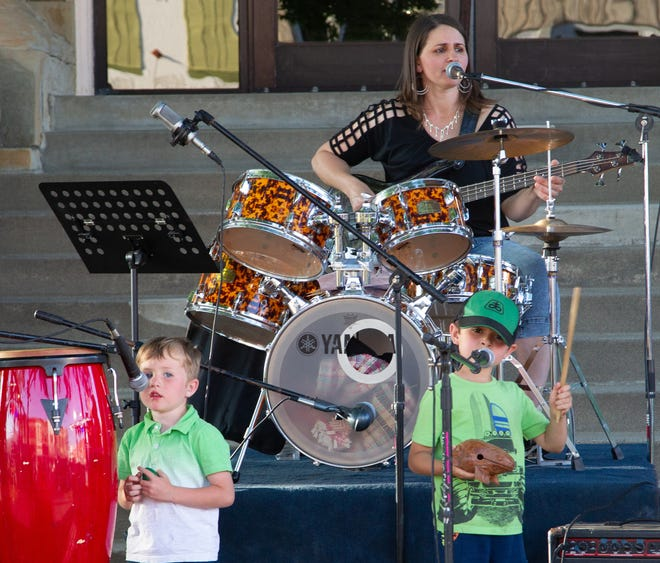 The 7th Annual Kirksville Art Walk happened Friday in downtown Kirksville, with the first Summer on the Square Concert Series beginning right after. The Pumptown Family Band was the first artist featured. A full gallery is available at KirksvilleDailyExpress.com.