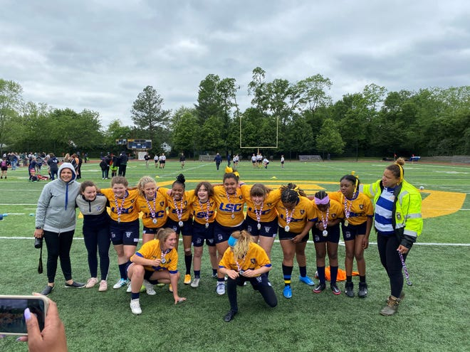 Hudson's middle school girls rugby team won the state championship at the Ohio middle school state rugby tournament in Cincinnati on May 29. Hudson teamed with St. Francis girls for the 2021 season and topped Medina 15-10 for the state title.