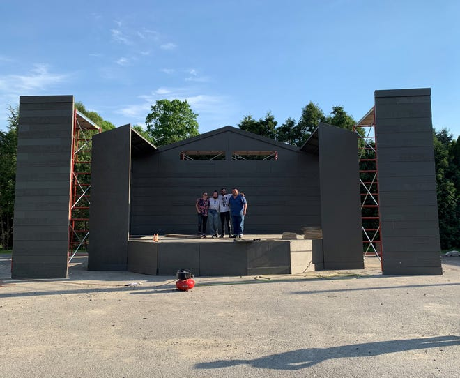 Bristol Valley Theater's outdoor stage in Naples was built in 16 days by carpentry team Will Hodges, Sara Quinn, Rachel Van Namen and technical director Dana White Jr.