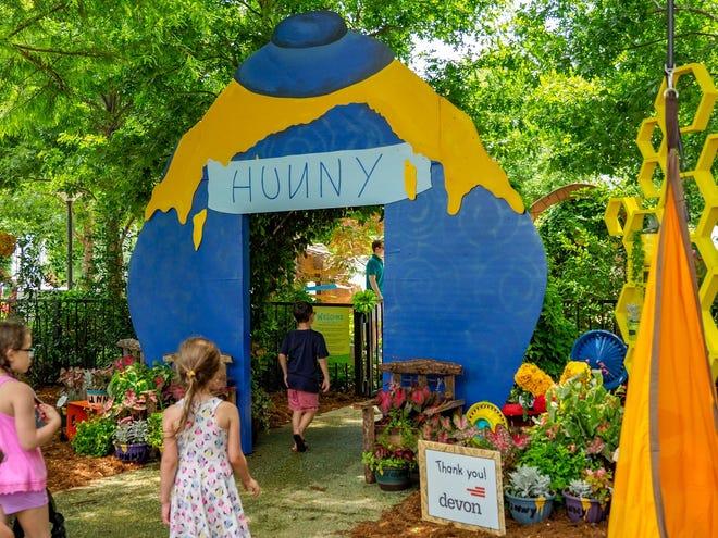 A previous Children's Garden Festival at the Myriad Botanical Gardens had a Winnie-the-Pooh theme.