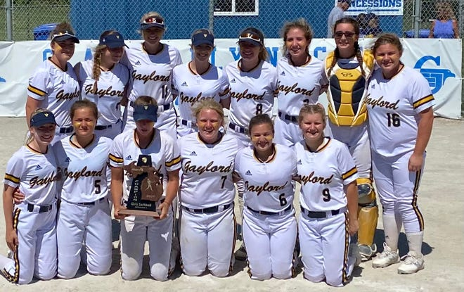 The Gaylord varsity softball team came through with a Division 2 district championship Saturday in Gladwin behind a pair of strong pitching performances that led to two shutout wins.
