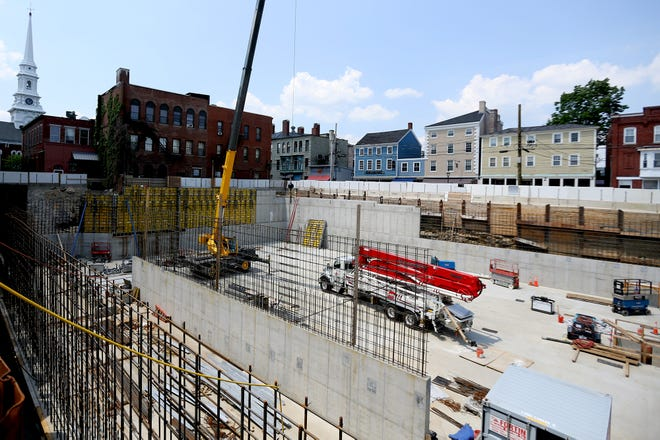 Construction is underway at the developing brick market in Portsmouth, as seen on Monday 7th June 2021.