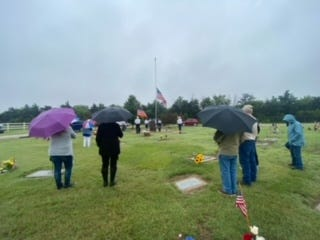 St. John held a Memorial Day service at the Fairview Cemetery on May 31, 2021 at 10 a.m. A nice crowd gathered to remember those who have fought and died for freedom.