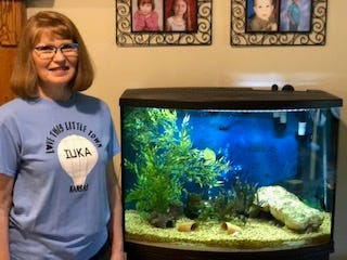Susie Boese, Iuka, found that fishkeeping was a fun COVID-19 hobby that has surpassed her expectations for adventure.