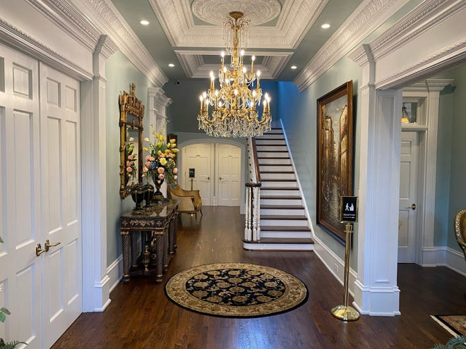 The finished entryway at Blanton House.
