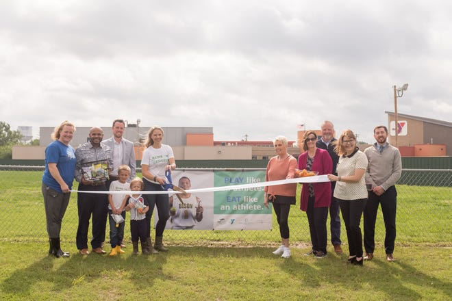 A recent ribbon-cutting ceremony signified added healthy eating options at the YMCA's concession stand.