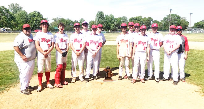 The Colon baseball won the district title on Saturday in Mendon.