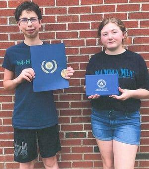 The eighth grade boy and the eighth grade girl Legion award winnerswere Caleb Stoltzfus and Zoe Crites.