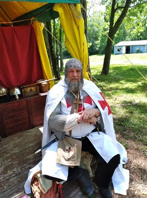 Sir Knight Robert (Hendrix) of French Lick was a body guard to Robert the Bruce, King of Scotland, during the opening weekend of the Highland Renaissance Faire in Kentucky. More than 1,200 people attended the opening events.