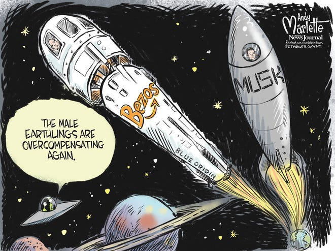 Bezos and Musk: who has the biggest rocket ship?