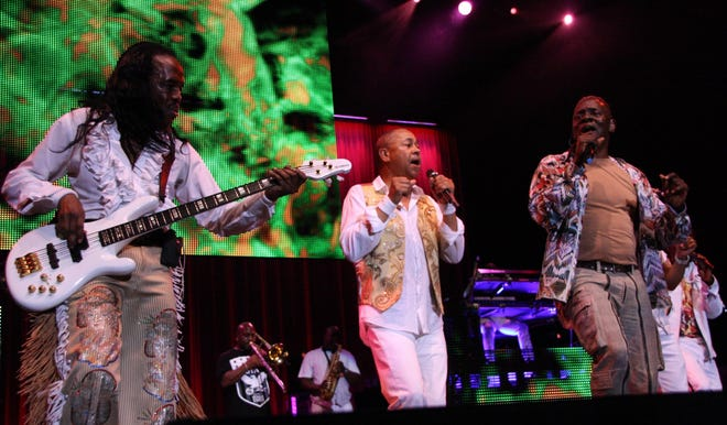 Members of Earth Wind and Fire perform at the Tuscaloosa Amphitheater on Sunday June 16, 2013.   (The Tuscaloosa News / Kirsten Fiscus)