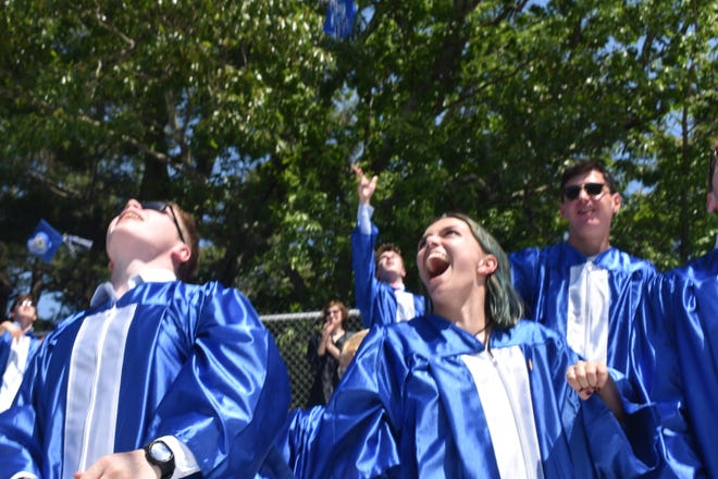 Walpole High School held the graduation ceremony for the class of 2021 on Sunday, June 6. Principal StephenImbusch said they decided to leave some COVID-safety protocols in place despite recent relaxations.